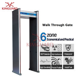 China Court Rechargeable Security Metal Detectors With People Counter , Walk Through Magnetometer factory