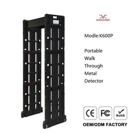 China Separate Host K600P Walk Through Metal Detector 33 Detection Zones With Battery Backup distributor