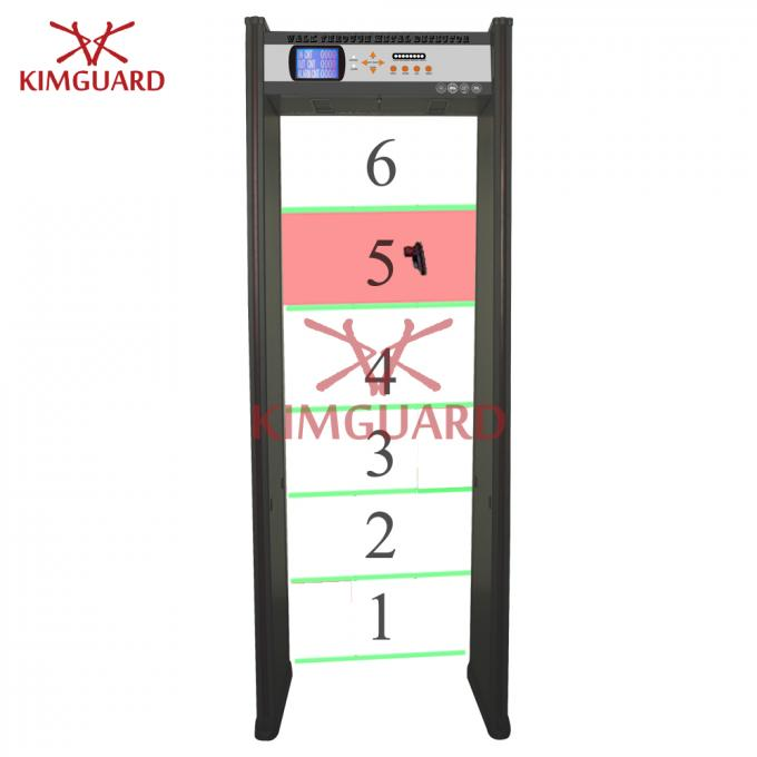Hotel Bidirectional Security Metal Detectors Multi Zone DFMD With LED Indicator K606