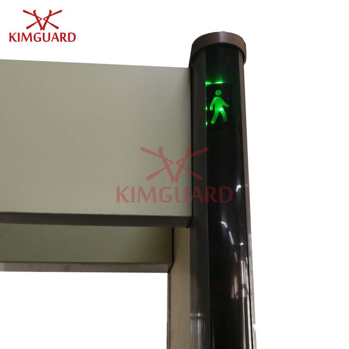 Commercial  Multi Zone Door Frame Metal Detector With Pacing Traffic Light K633P