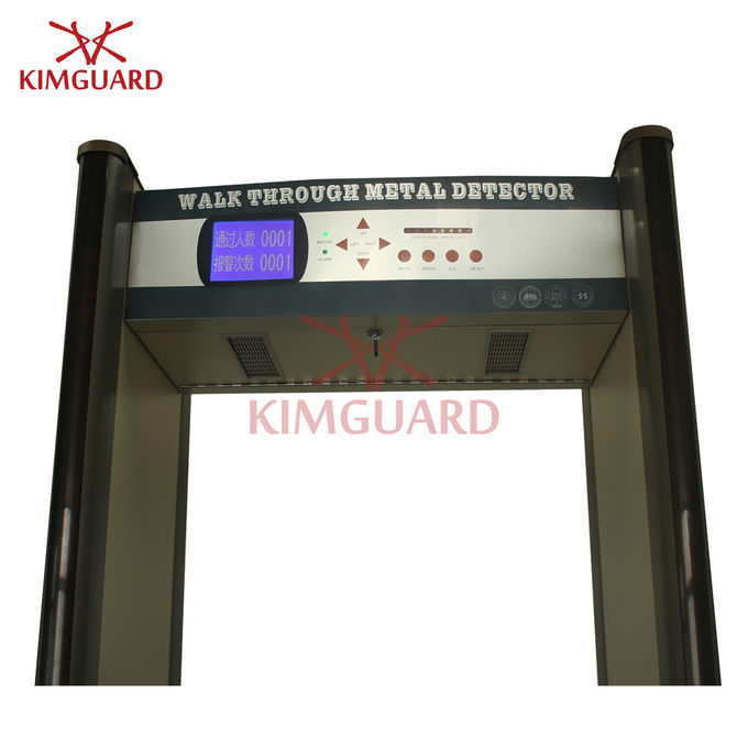 Checkpoint Portable Walk Through Metal Detector Security Screening 15 Horizontal Detection Zones