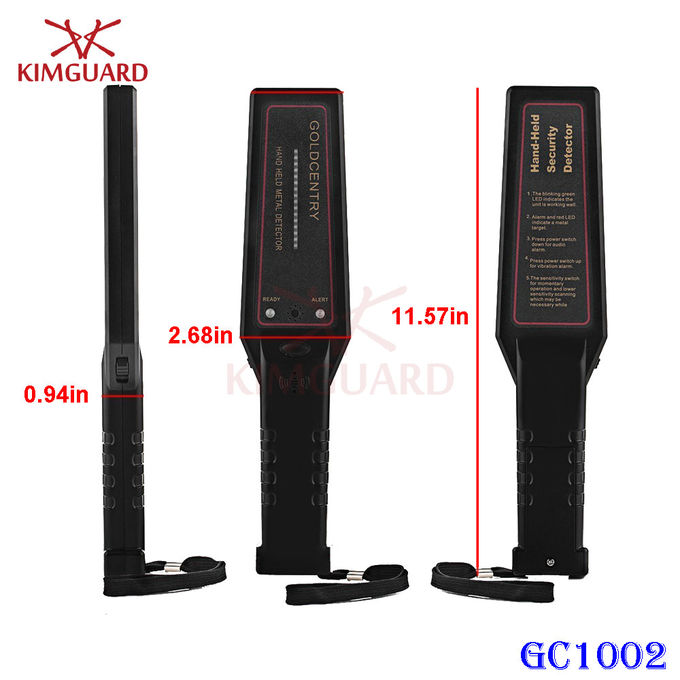 Airport Security Guard Metal Detector Wand Woodworking , Super Body Scanner Reliable