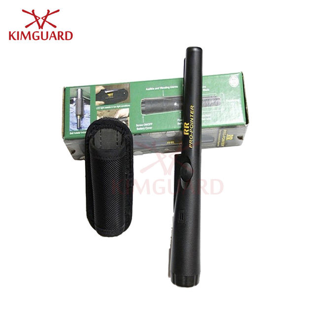 Rechargeable Black Hand Held Metal Detector Super Scanner 9v Battery Cylindrical